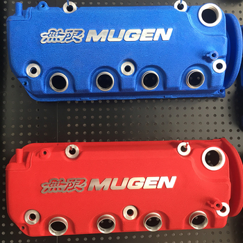 MUGEN Style Red color racing engine valve cover for Honda 92-95 civic D15 D16 vtec and 96-00 D16y engines header civic eg