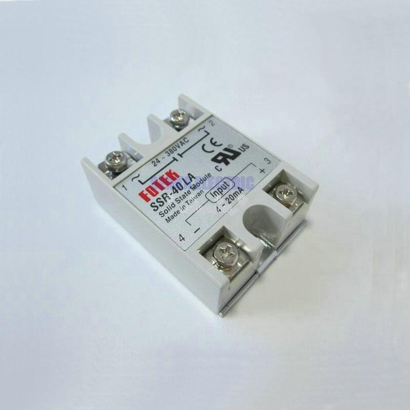 SSR-40LA 4-20mA Ingresso AC 24-380 V 40A Regolatore di Tensione di Uscita 1 Phase Relè A Stato Solido SSR