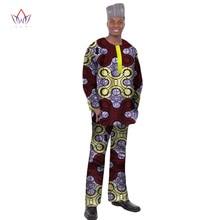 2017 БРВ новые моды Дашики Для мужчин Топы корректирующие комплект брендовая одежда 6XL Для мужчин S рубашка и Мотобрюки Двойка комплект Для мужчин с Африки Костюмы WYN12