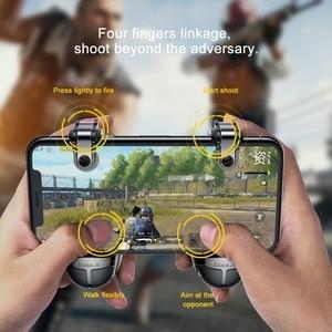 Image 2 - Baseus Pubg בקר נייד הדק עבור iPhone XR L1 R1 Shooter בקר אש כפתור Gameped ג ויסטיק עבור אנדרואיד טלפון