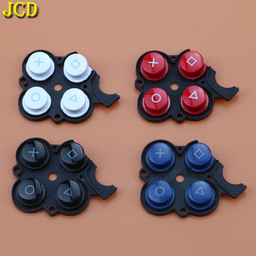 JCD 1PCS Rubber Right Button Switch Conductive Pad For Sony PSP2000 PSP 2000 Game Console Machine Multi-Function Button