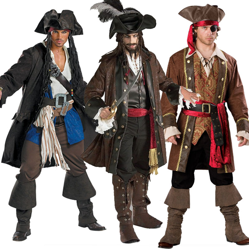 mens piraten cosplay kleidung m nner kapit n kost m. Black Bedroom Furniture Sets. Home Design Ideas