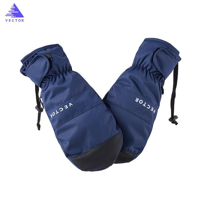 Векторные лыжные перчатки Мужские Женские теплые ветрозащитные непромокаемые сноубордические перчатки снегоход мотоциклетные перчатки для верховой езды взрослые зимние перчатки
