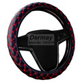 Factory SALE PU Leather Steering Wheel Cover New Korean Plaid For Auto Car With 4 Colors For Choice Four Seasons General
