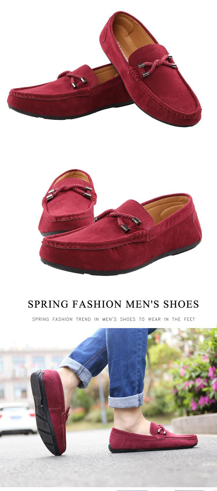 HTB1uD1mUrvpK1RjSZFqq6AXUVXa8 UPUPER Spring Summer NEW Men's Loafers Comfortable Flat Casual Shoes Men Breathable Slip-On Soft Leather Driving Shoes Moccasins