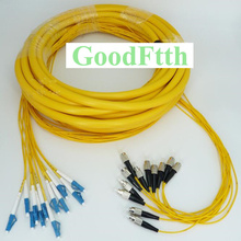 Patch Cord Jumper FC-LC UPC FC/UPC-LC/UPC SM 12 Cores Fibers Trunk Breakout 2.0mm GoodFtth 100-500m