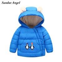 Sundae Angel Winter Jackets Girls Long Sleeve Down Parkas Hooded For Kids Baby Boys Jacket Outerwear