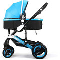 Stroller high landscape can sit can lie the pram ultra lightweight suspension fold reduction baby cart