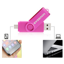 Miniseas USB Flash Drive Colorful Metal Pen Drive 4GB 8GB 16GB 32GB Pendrive Andriod