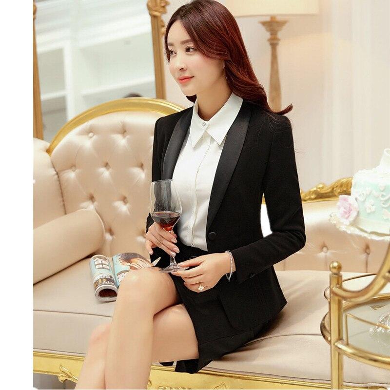 Frauen Zwei-stück Anzug jacke + Rock Frauen Business Büro Formalen Overalls Frauen Mode Dünne Klage Rock Unterstützung Benutzerdefinierte Elegant Und Anmutig
