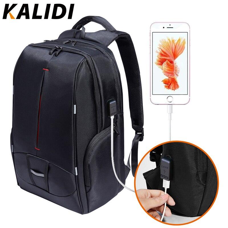 KALIDI 15 17 Inch font b Laptop b font Backpack USB Charger Travel font b Bag