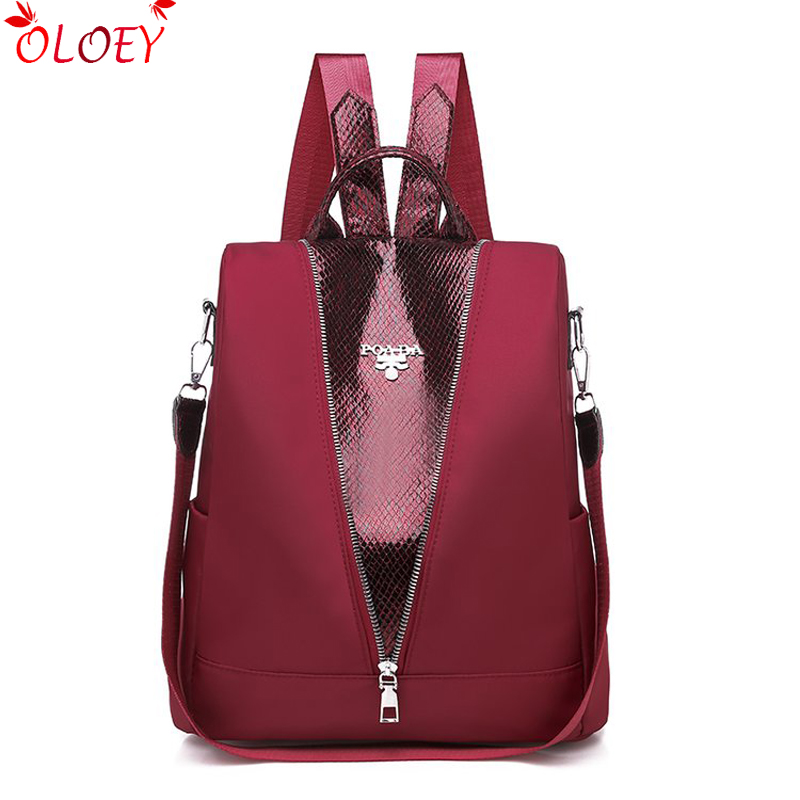 Fashion Multifunction Backpack Women Oxford Backpack Female Anti Theft Schoolbag Backpack For Teenager Girls Backpack Mochila
