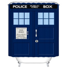 Shower Curtain Tardis Doctor Who Printed Waterproof Polyester Bath Curtain 180cm Bathroom Accessories Curtains Home Decoration