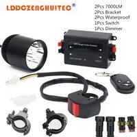 LDDCZENGHUITEC Universal Motorcycle LED Fog Lights Taillight Anti Fog Parking Stop Brake Lamps Warning Tail Light