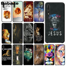 Babaite Jesus lion text TPU black Phone Case Cover Shell for Huawei NOVE3E P20 Pro P10 Plus P9 Mate 10 Lite Mobile Cases(China)