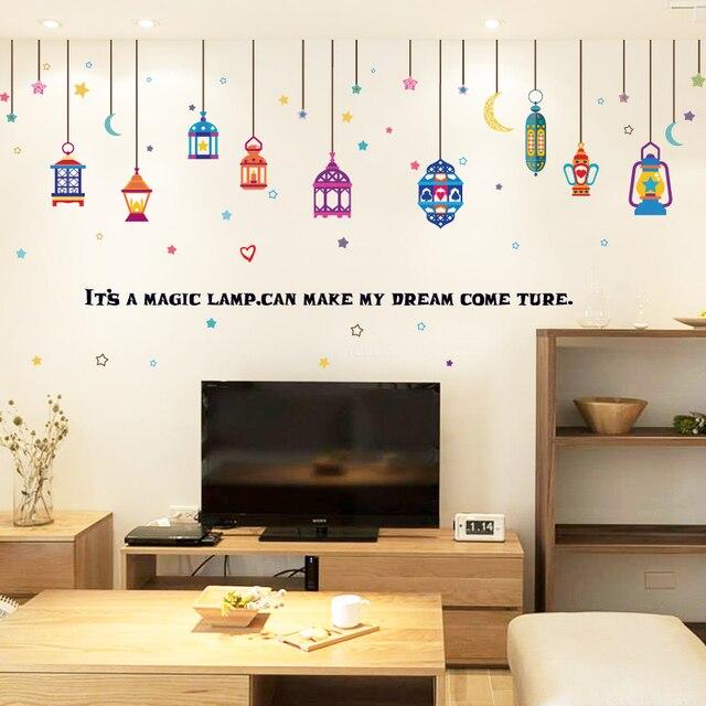 Baru Dapat Dilen Arab Lampu Warna Warni Diy Ruang Tamu Rumah Jendela Dekoratif Dinding Stiker