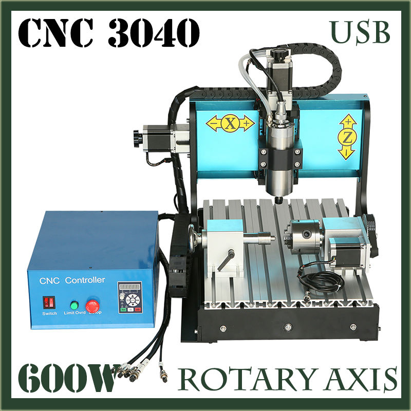 JFT CNC Router 3040 600W 4 Axis with USB 2.0 Port High Precision Mini Jewelry CNC Router Wood Engraving Drilling Milling Machine  jft cnc router 3040 600w 4 axis with usb 2 0 port high precision mini jewelry cnc router wood engraving drilling milling machine