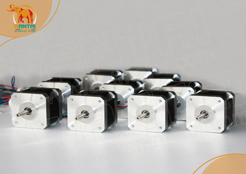 50USD!ONLY USA!10pcs 64oz-in 4500g-cm 48mm 1.2A 4Leads Nema17  Stepper Motor 42BYGHW804 WANTAI for 3D printer CE&ISO