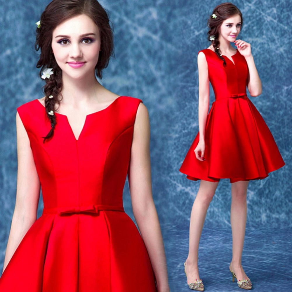 Perfect Red Cocktail Dress