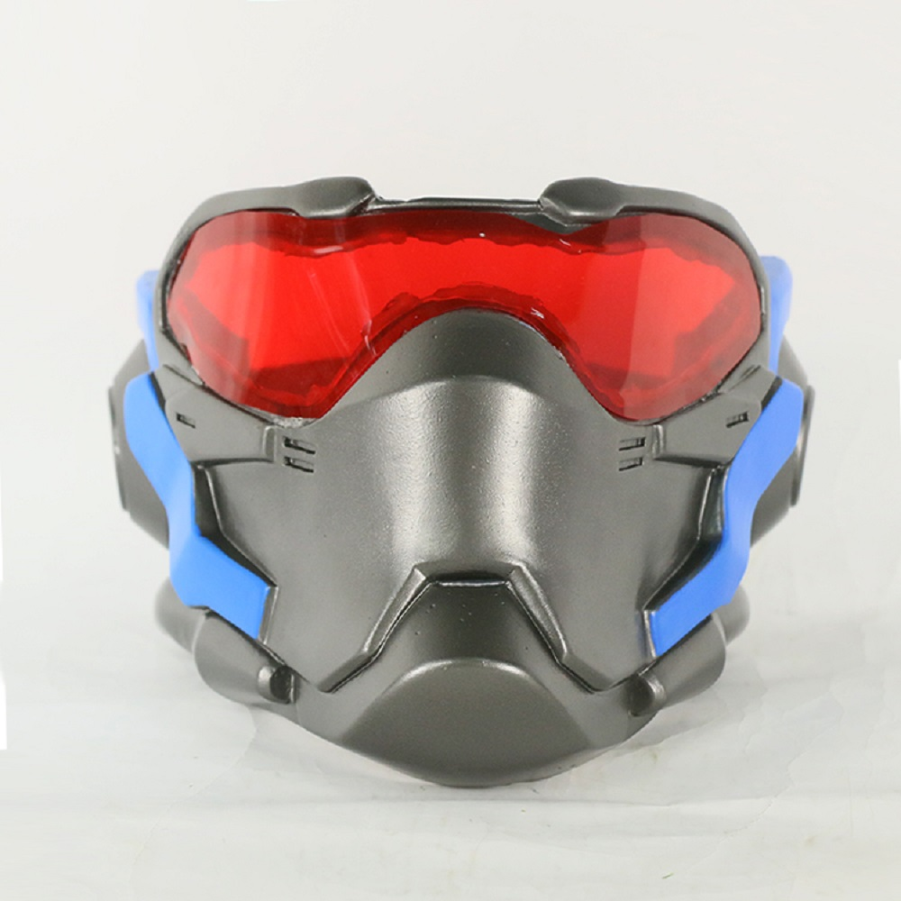 OW Game Mask Cosplay Soldier 76 Mask Helmet Jacket Costume Halloween Party Mask Prop Adult Men