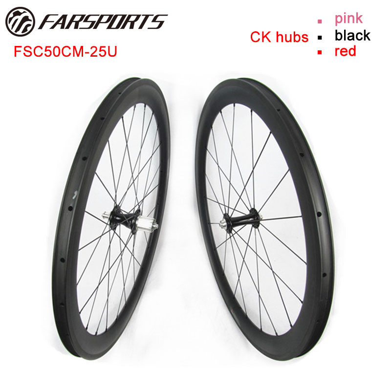 Competitive Price Chris King R45 road hubs & Sapim cx-ray , FarSports FSC50CM-25 50mm depth carbon cycling bike wheels 25mm calvin klein baby boys gray polo with blue pants