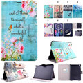 Flower Tower Wave Flip PU Leather Cases For Samsung Galaxy Tab S 10.5 Case For Samsung Galaxy Tab S T800 T805 Smart Cases Covers