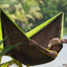 300*200 cm 2 Personas Hamaca 2016 jardín de la Supervivencia Que Acampa caza de Ocio de Viaje Doble Persona Hamacas Paracaídas Portátil