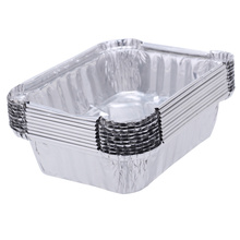 10Pcs 220ML Food Storage Containers Small Boxes Aluminium Foil Pans Microwavable Cup Takeaway Food Box Disposable Tableware