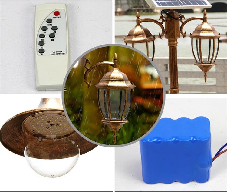 Садовый светодиодный светильник на солнечных батареях, уличный светильник, ландшафтный светильник и винтажный водонепроницаемый фонарь - 2