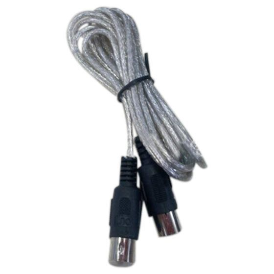 HOT-Newest 3 meter 10ft <font><b>MIDI</b></font> Extension <font><b>Cable</b></font> <font><b>5</b></font> <font><b>Pin</b></font> Plug Male To Male Connector Silver image