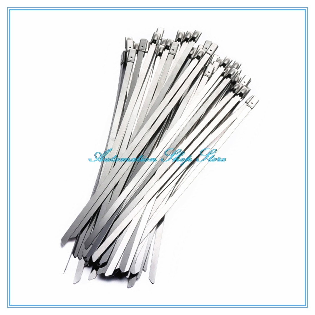 10pcs 46mm Wide Stainless Steel Metal Cable Ties Tie Zip Wrap Wire Harness Feature Antioxidative Anticaustic Uviofast High Temperature Resistant Cold Strength And Easy To Use Once You Button Up The