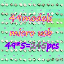 49model 245pcs mini micro usb jack connector charging Port plug socket 5Pin for Samsung HTC Lenovo Huawei...mobile phone tablet цена 2017
