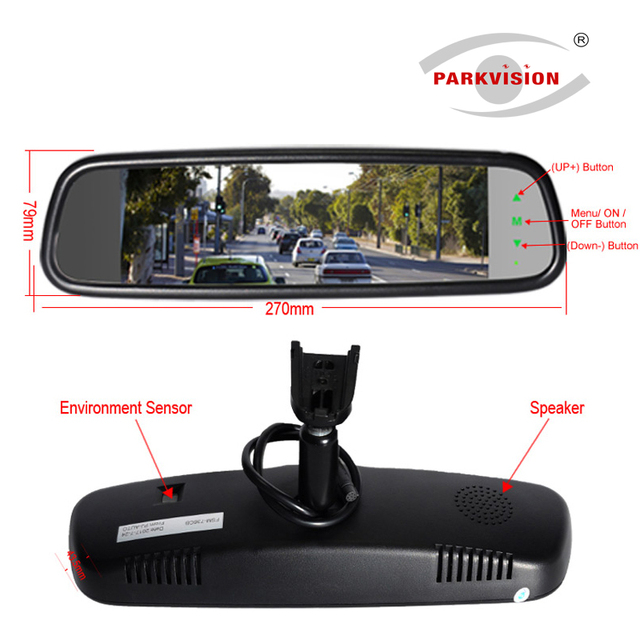 Parkvision 180 Degree Wide Angel 7 36 Inch Hd Full Smart Car