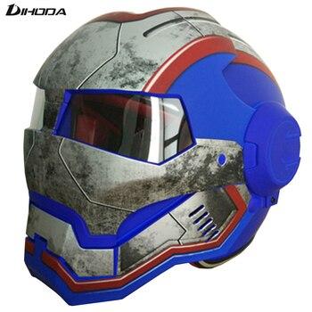 Masei 2016 Matte Blue Mens womens IRONMAN Iron Man helmet motorcycle helmet half helmet open face helmet ABS casque motocross