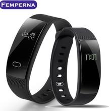 Femperna QS80 Bluetooth Smart Браслет сердечного ритма Сидячий напоминание мониторинг сна Браслет для IOS Android-смартфон