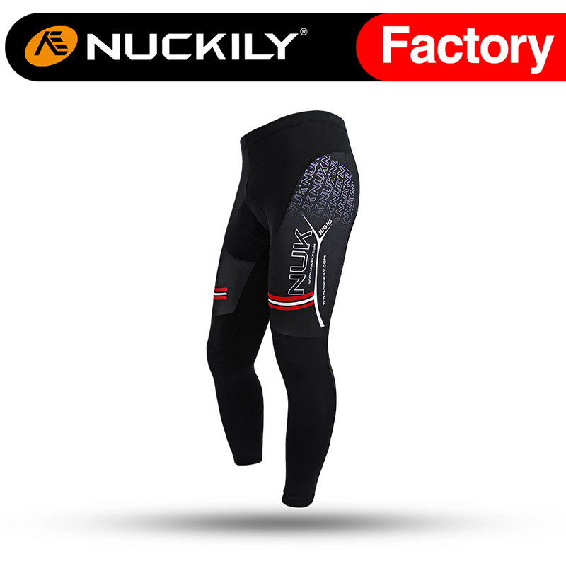 ФОТО Nuckily Winter Monton Wholesale Mens Winter Thermal Cycling Tights Fleece Lined  MF001