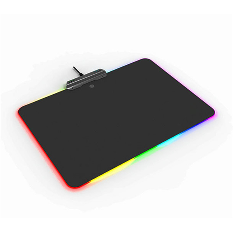 Gaming Backlit Mouse Gamer Pad LED Light RGB Gaming Mouse Pad Lighting Edge Mice Mat With Touch Switch For PUBG Dota LOL