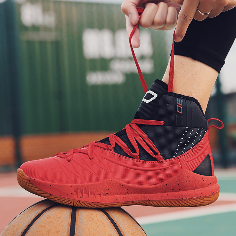 New lightweight fashion high-top basketball shoes, cool soft sports shoes