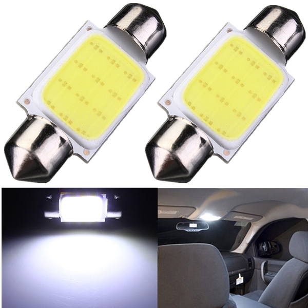 High Quality 36mm Festoon COB 12 Chips DC 12V LED Car Dome Reading Lights Auto Interior Lamps Super Bright Bulbs Power wholesale white 12 led chips cob 2w car auto festoon dome interior led lights lamp reading bulb dc12v icarmo