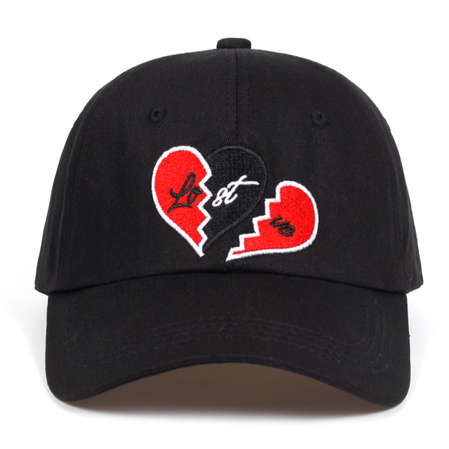 Lost love Embroidery dad hat Broken heart Baseball Caps High Quality  Snapback Cotton% Black golf cap hats Garros Casquette 55058b72da23