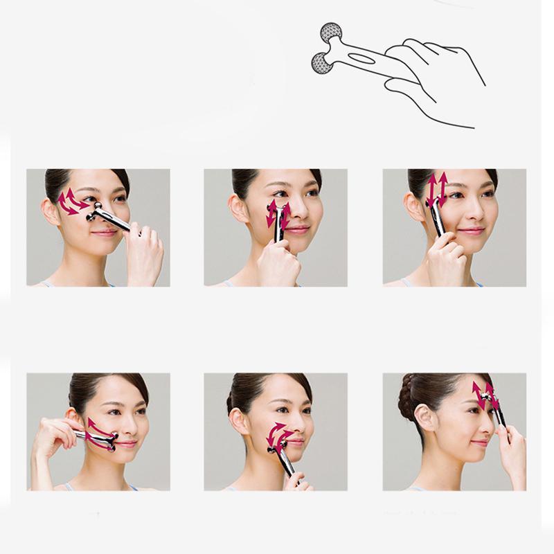 Bellylady 3D Face Lift Roller Massager Metal Face Massage Instrument Beauty Tool For Women