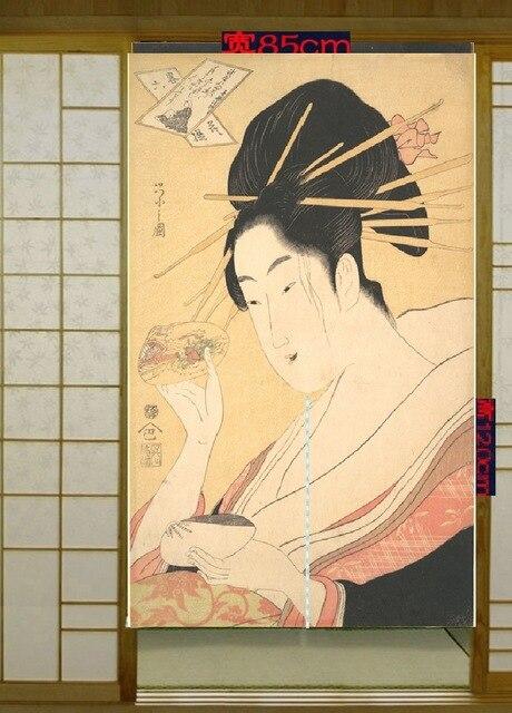 Us 441 ładne Japońskich I Koreańskich Kuchni Zasłony Tkaniny Dekoracyjne Zasłony Powiesić Drzwi Cień Przymierzalnia Kurtyny łazienka Worek Poczty W