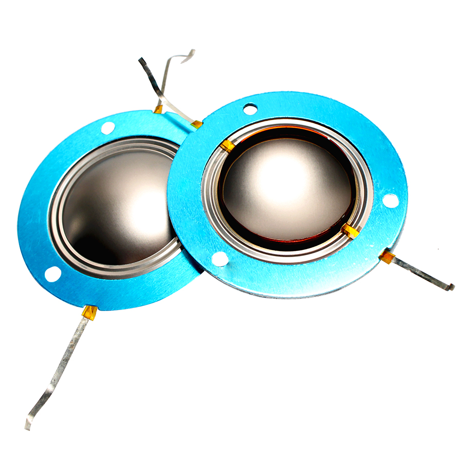 2PCS 34.4mm 34.5 Core Imported Titanium Tweeter Film With Aluminum Sheet Treble Ring Voice Coil For PV14XT Speaker Accessories