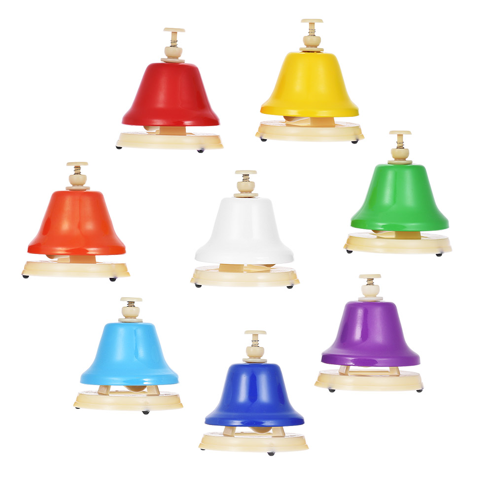 лучшая цена SEWS-Colorful 8 Note Hand Bell Set Musical Educational Instrument Toy for Children Kids Student