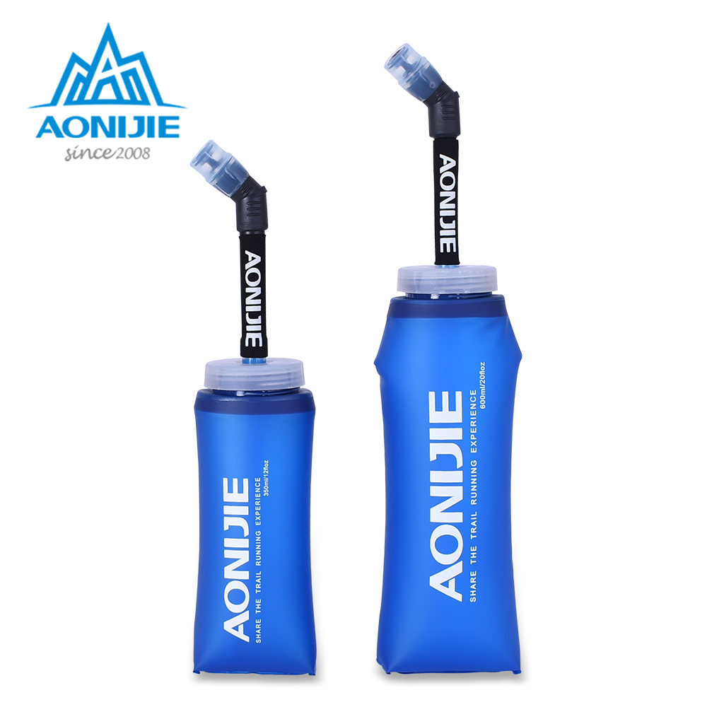 AONIJIE SD13 350ml 600ml Folding Collapsible Soft Flask Water Bottle BPA Free For Runninng Jogging Hydration Bladder Pack Vest