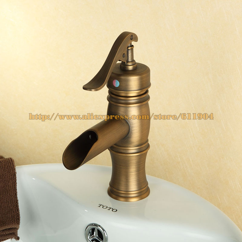 Charmant Free Shipping Pump Style Open Spout Bathroom Faucet Lavatory Vessel Basin  Faucet Mixer Tap Antique Brass Cold Hot Water Taps In Basin Faucets From  Home ...