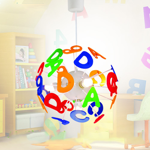 childrens pendant lighting. Simple Lighting For Kids Bedroom Pendant Light Children Cartoon ABCD Pattern 4 Lights Without Bulbs Childrens F
