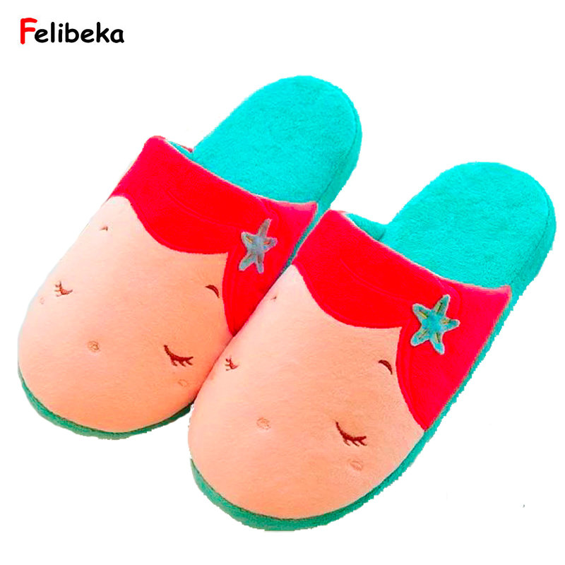 Cartoon princess fan Women Home Slippers For Indoor Bedroom House Soft Bottom Comfortable Shoes Adult Flats plush flat indoor cartoon flock adult furry slippers fluffy winter fur animal shoes rihanna house home women adult slipper anime