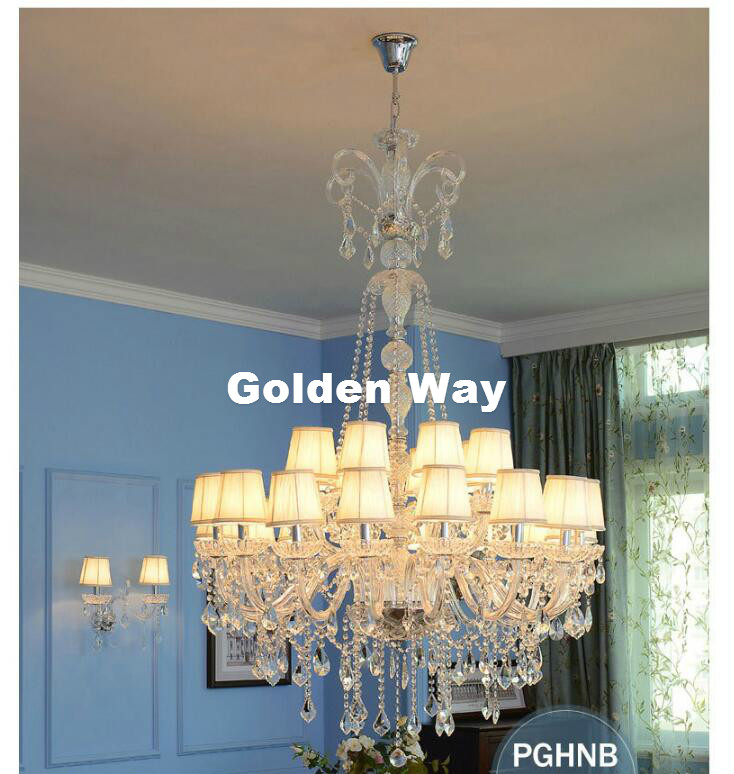 Modern Clear White Chandeliers Luminaire Lampe Light Home Lighting Fixtures Living Room Hotel Lobby Pendientes Lluminaire Light