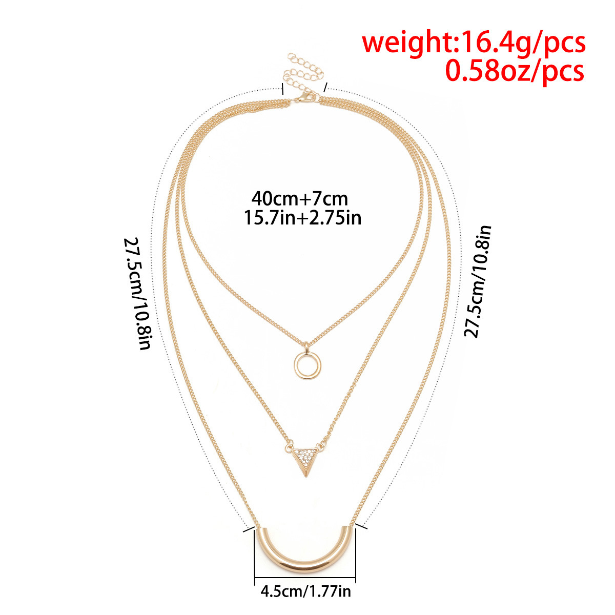 2018 Trendy Sexy Graceful Multilayer Alloy Chains Geometry Pendant Necklace Chains Necklace for Women Girl Fashion Jewelry Gifts